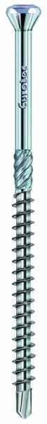 Hobotec Zierkopf - Stahl blau verzinkt - TX10 mit weißer Kopflackierung
