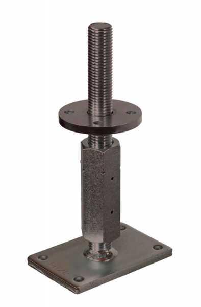 Pitzl Pfostenträger - schwere Ausführung, Verstellbereich 150 mm bis - 210 mm
