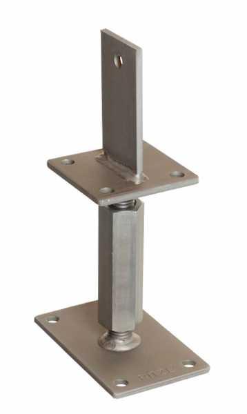 Pitzl Pfostenträger - Rechts/Links Gewinde, Verstellbereich 327 mm bis 392 mm
